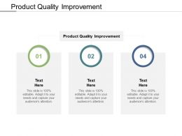 Product Quality Improvement Ppt Powerpoint Presentation Model File Formats Cpb