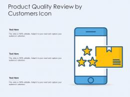 Product Quality Review By Customers Icon