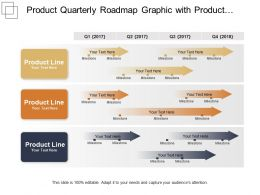 Product Quarterly Roadmap Graphic With Product Line And Milestones