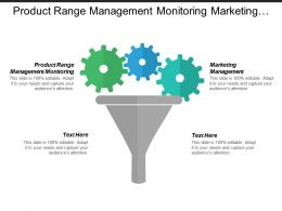 Product Range Management Monitoring Marketing Management Market Research Cpb