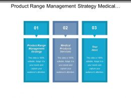 Product Range Management Strategy Medical Products Services Skills Employment Cpb