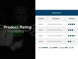 Product Rating Ppt Outline Infographic Template