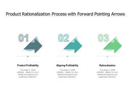 Product Rationalization Process With Forward Pointing Arrows