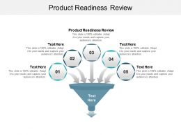 Product Readiness Review Ppt Powerpoint Presentation Gallery Slides Cpb