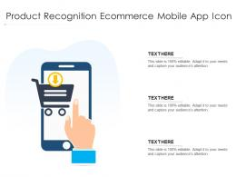 Product Recognition Ecommerce Mobile App Icon