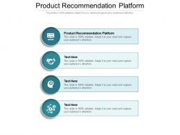 Product Recommendation Platform Ppt Powerpoint Presentation File Clipart Images Cpb
