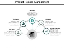 Product Release Management Ppt Powerpoint Presentation Outline Clipart Images Cpb