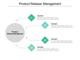 Product Release Management Ppt Powerpoint Presentation Show Example Cpb