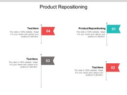 Product Repositioning Ppt Powerpoint Presentation Inspiration Brochure Cpb
