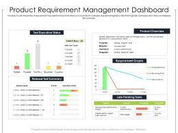 Product Requirement Management Dashboard Ppt Powerpoint Presentation Slides