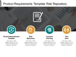 Product Requirements Template Risk Repository Scenario Planning Requirement Cpb