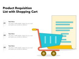 Product Requisition List With Shopping Cart