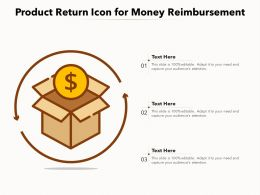 Product Return Icon For Money Reimbursement