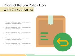Product Return Policy Icon With Curved Arrow