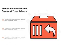 Product Returns Icon With Arrow And Three Columns