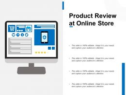 Product Review At Online Store