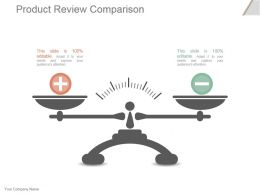 Product Review Comparison Powerpoint Slide Designs Download