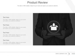 Product Review Powerpoint Slide Inspiration