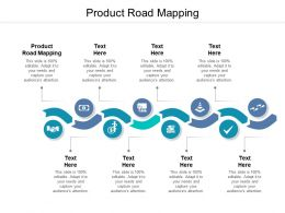 Product Road Mapping Ppt Powerpoint Presentation Icon Clipart Cpb