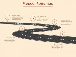 Product Roadmap Audience Attention Ppt Powerpoint Presentation File Design Inspiration