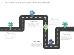 Product Roadmap Example Of Ppt Presentation