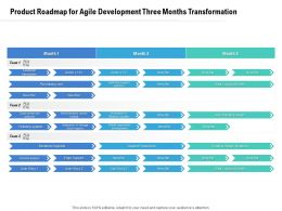 Product Roadmap For Agile Development Three Months Transformation