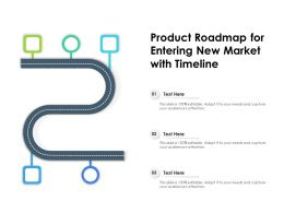 Product Roadmap For Entering New Market With Timeline