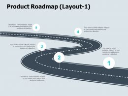 Product Roadmap Layout Audiences Attention Ppt Powerpoint Presentation Icon Ideas