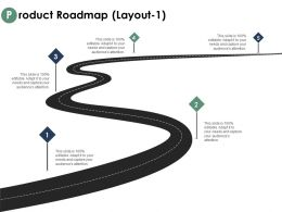 Product Roadmap Layout Information Roadmap Ppt Powerpoint Presentation Outline Picture