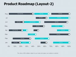 Product Roadmap Layout Month Ppt Powerpoint Presentation Icon Layout