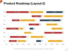 Product Roadmap Layout Timeline Ppt Powerpoint Presentation File Icon