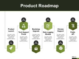 Product Roadmap Ppt Infographic Template