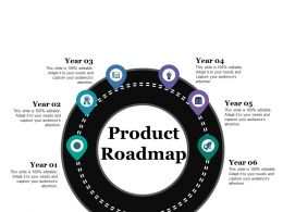 Product Roadmap Ppt Powerpoint Presentation File Designs Download