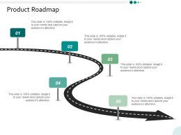 Product Roadmap Ppt Powerpoint Presentation Infographics Slides