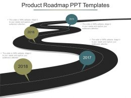 Product Roadmap Ppt Templates