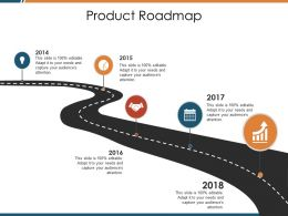 Product Roadmap Ppt Visual Aids Pictures