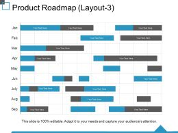 Product Roadmap Ppt Visual Aids Slides
