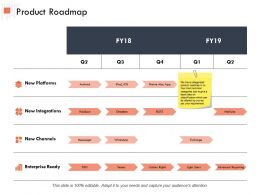 Product Roadmap Process Ppt Powerpoint Presentation Outline Design Templates