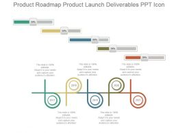 Product Roadmap Product Launch Deliverables Ppt Icon