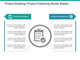 Product Roadmap Product Positioning Routes Market Marketing Plan