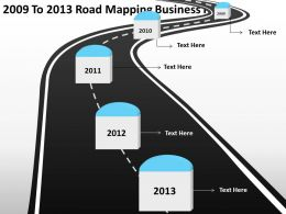 Product Roadmap Timeline 2009 To 2013 Road Mapping Business Plan Powerpoint Templates Slides
