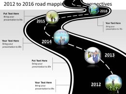 Product Roadmap Timeline 2012 to 2016 Road Mapping Future Perspectives Powerpoint Templates Slides