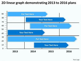 product roadmap timeline 2D linear graph demonstrating 2013 to 2016 plans powerpoint templates slides