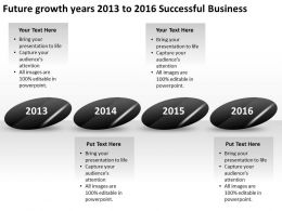 product roadmap timeline Future growth years 2013 to 2016 Successful Business powerpoint templates slides