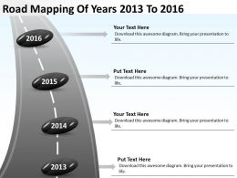 Product Roadmap Timeline Road Mapping Of Years 2013 To 2016 Powerpoint Templates Slides