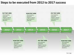 product roadmap timeline Steps to be executed from 2012 to 2017 success powerpoint templates slides