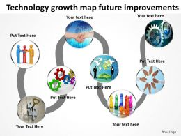 Product Roadmap Timeline Technology Growth Map Future Improvements Powerpoint Templates Slides