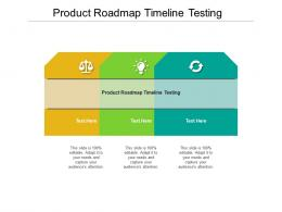 Product Roadmap Timeline Testing Ppt Powerpoint Presentation Ideas Themes Cpb