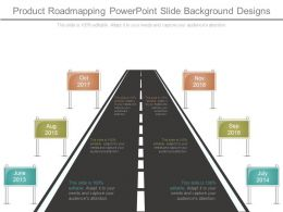 Product Roadmapping Powerpoint Slide Background Designs