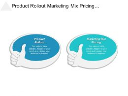 Product Rollout Marketing Mix Pricing Collaborative Decision Making Cpb
